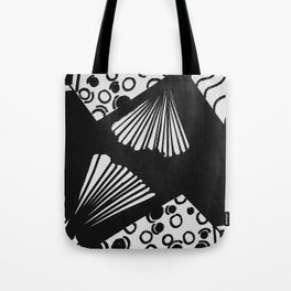 wavy circle pattern design Tote Bag