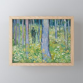 Undergrowth with Two Figures by Vincent van Gogh, 1890 Framed Mini Art Print