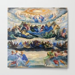 "Tintoretto (Jacopo Robusti) ""The Coronation of the Virgin"", known as ""Paradise"" (1580) Metal Print"