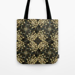 Yellow Flowers on Black Tote Bag