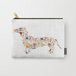 Dachshund - Watercolor/Floral Carry-All Pouch