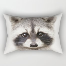 Baby Raccoon, Baby Animals Art Print By Synplus Rectangular Pillow