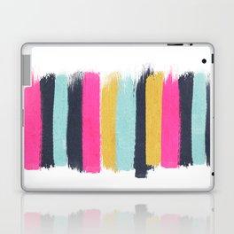 Inez - Brushstroke print in bold, modern colors Laptop & iPad Skin