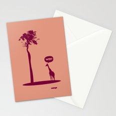 WTF? Jirafa bis! Stationery Cards
