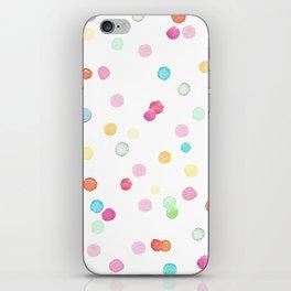 Happy colorful confetti print iPhone Skin