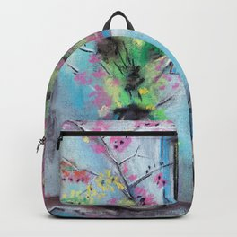 Anapa. Seaside town in bloom. Hot summer day. Pastel drawing Backpack