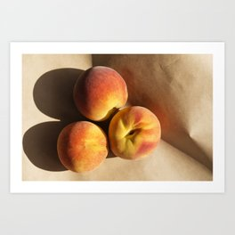 3 peaches Art Print