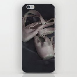 Pastel pink points ballet shoes iPhone Skin