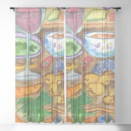 Making Goulash Sheer Curtain