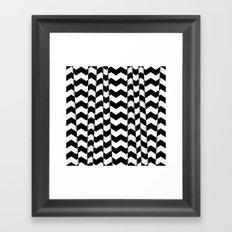 Chevron Pieces Framed Art Print