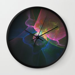 Colored Abstract Wall Clock