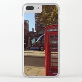London Telephone Booth Clear iPhone Case