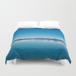 Blue line landscape Duvet Cover