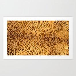 Brown Beige Leopard Animal Print Art Print
