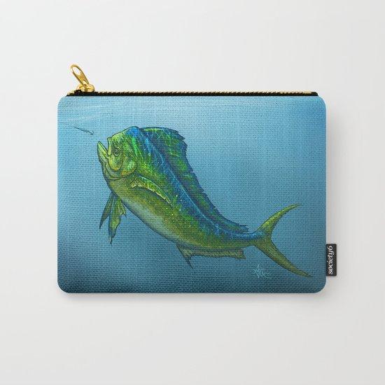 """""""El Dorado"""" by Amber Marine ~ Mahi Mahi / Dolphin Fish Art, (c) 2015 Carry-All Pouch"""