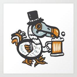 Dodo with beer Art Print