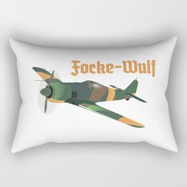 Focke-Wulf Fw 190 German WWII Airplane Rectangular Pillow