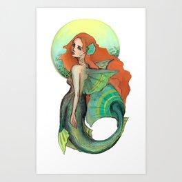 Atargatis, The First Mermaid Art Print