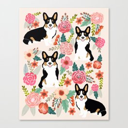 Welsh Corgi tri colored cardigan corgi dog breed must have corgi gifts for dog person pet friendly Canvas Print