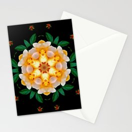 Yellow flower motif Stationery Cards