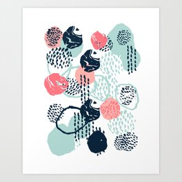 Mellie - abstract minimal modern art print painted boho hipster gender neutral canvas art Art Print