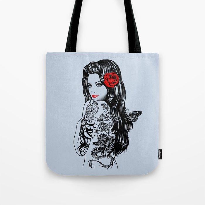 Tattoo Lolita Tote Bag