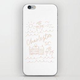 Charleston SC Print iPhone Skin