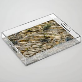 LAYERS OF TIME IN ANCIENT SANDSTONE Acrylic Tray