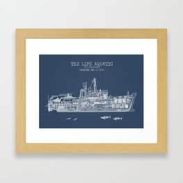 The Belafonte Blueprint Framed Art Print