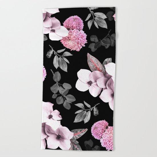 Night bloom - pink blush Beach Towel
