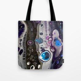 Acrylic Cells & lacing Tote Bag
