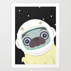 Pug in Space Art Print