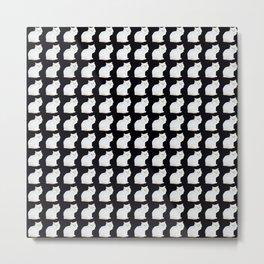 Snow kitten pattern Metal Print