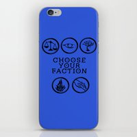 divergent iPhone & iPod Skins featuring Divergent - Choose your faction by Lunil