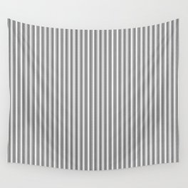 Trendy French Black and White Mattress Ticking Double Stripes Wall Tapestry