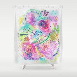 Joyfully pink Shower Curtain