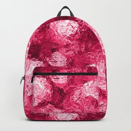 Neon Pink Metallic Patchwork Foil Backpack