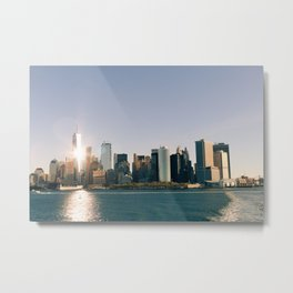 Morning over Manhattan Metal Print