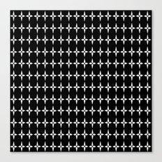 Four.Point.Print (Black) Canvas Print
