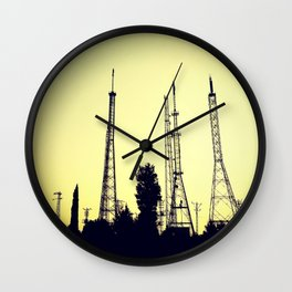 radio station aerials combat Wall Clock