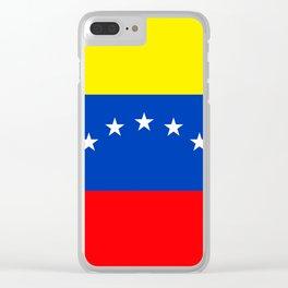 Venezuela flag Clear iPhone Case