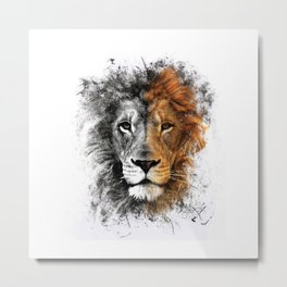 Two Face Lion  Metal Print
