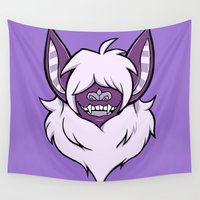 bat Wall Tapestries featuring bat by Psychonautic