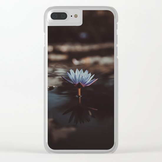 pastel blue Clear iPhone Case