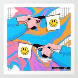 Smiley Flags Art Print