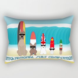 International Surf Competition Dogs Only Rectangular Pillow