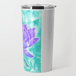 Sacred Lotus – Lavender Blossom on Mint Palette Travel Mug