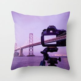 Bay Bridge Capture Throw Pillow