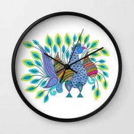 Dancing Peacock Wall Clock