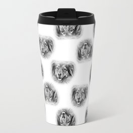 Pattern of a dog smiling Travel Mug